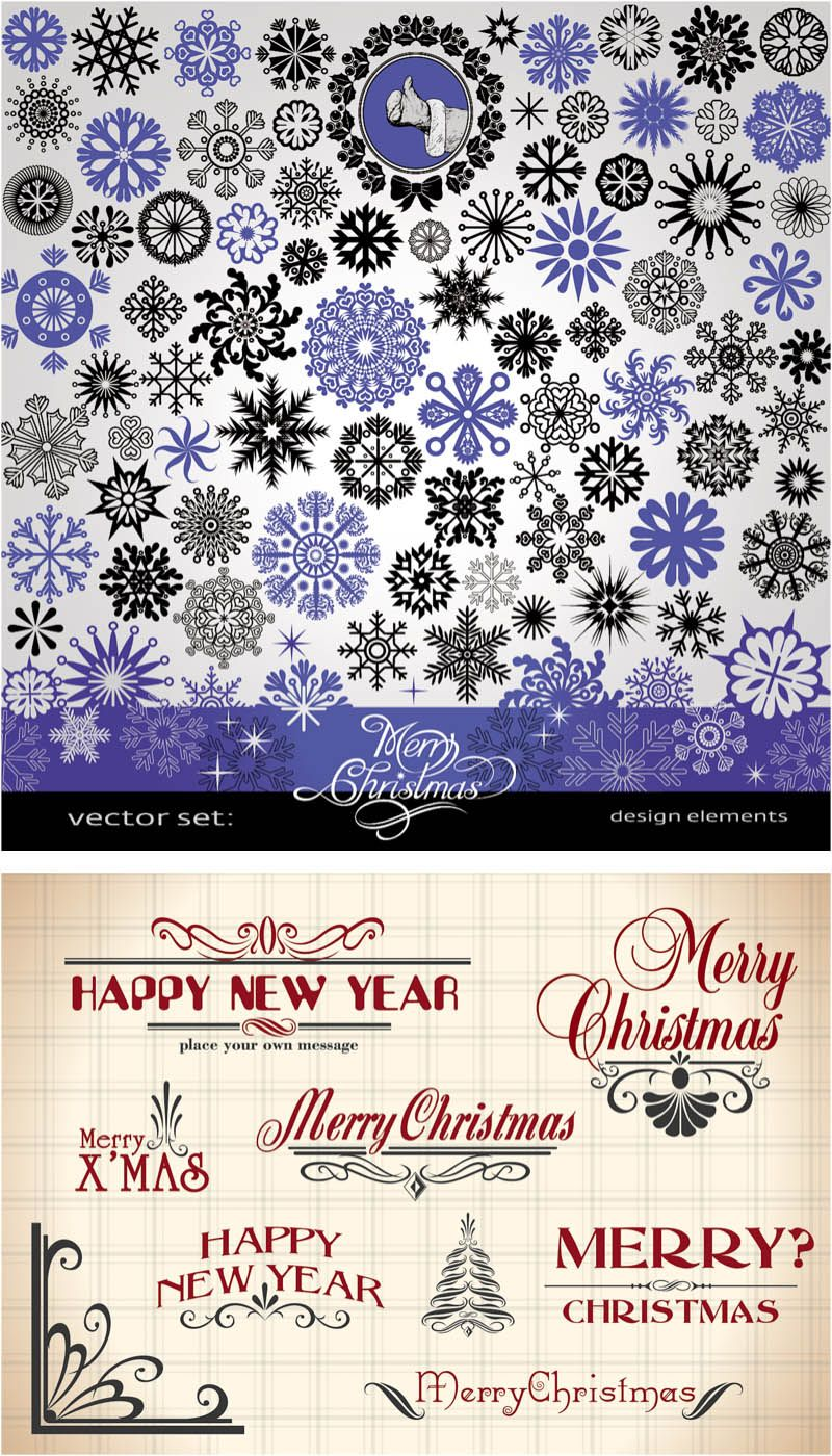 Download free vintage ornaments vintage ornaments and iders - Vintage Christmas Design Ornaments Vector 2 Sets With Different Vector Coinage Christmas Design Ornaments