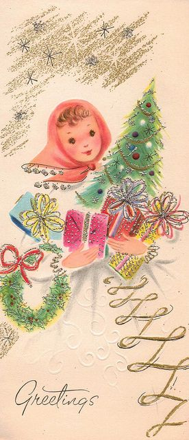The Christmas cards were all so pretty back then... The faces were just so angelic...