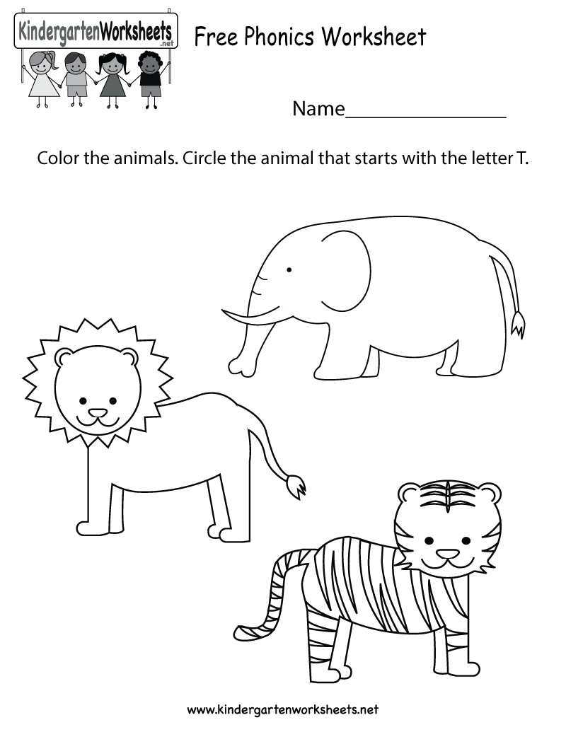 worksheet Phonics Worksheets For Kindergarten this is a fun coloring phonics worksheet for preschoolers or free kindergarten english kids