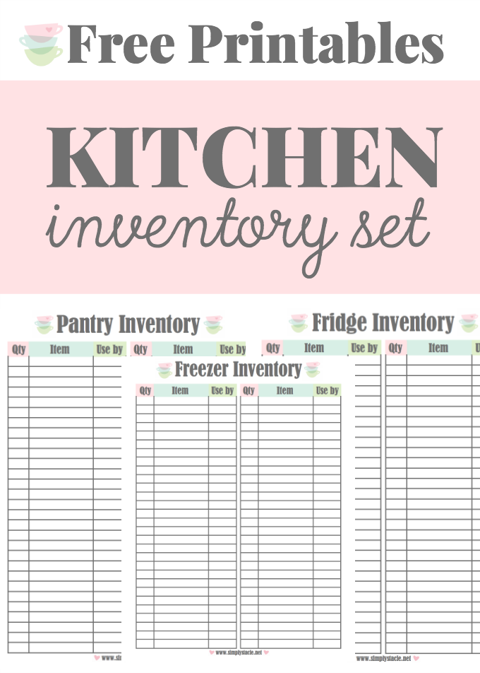 Kitchen Inventory Printables   Free printables