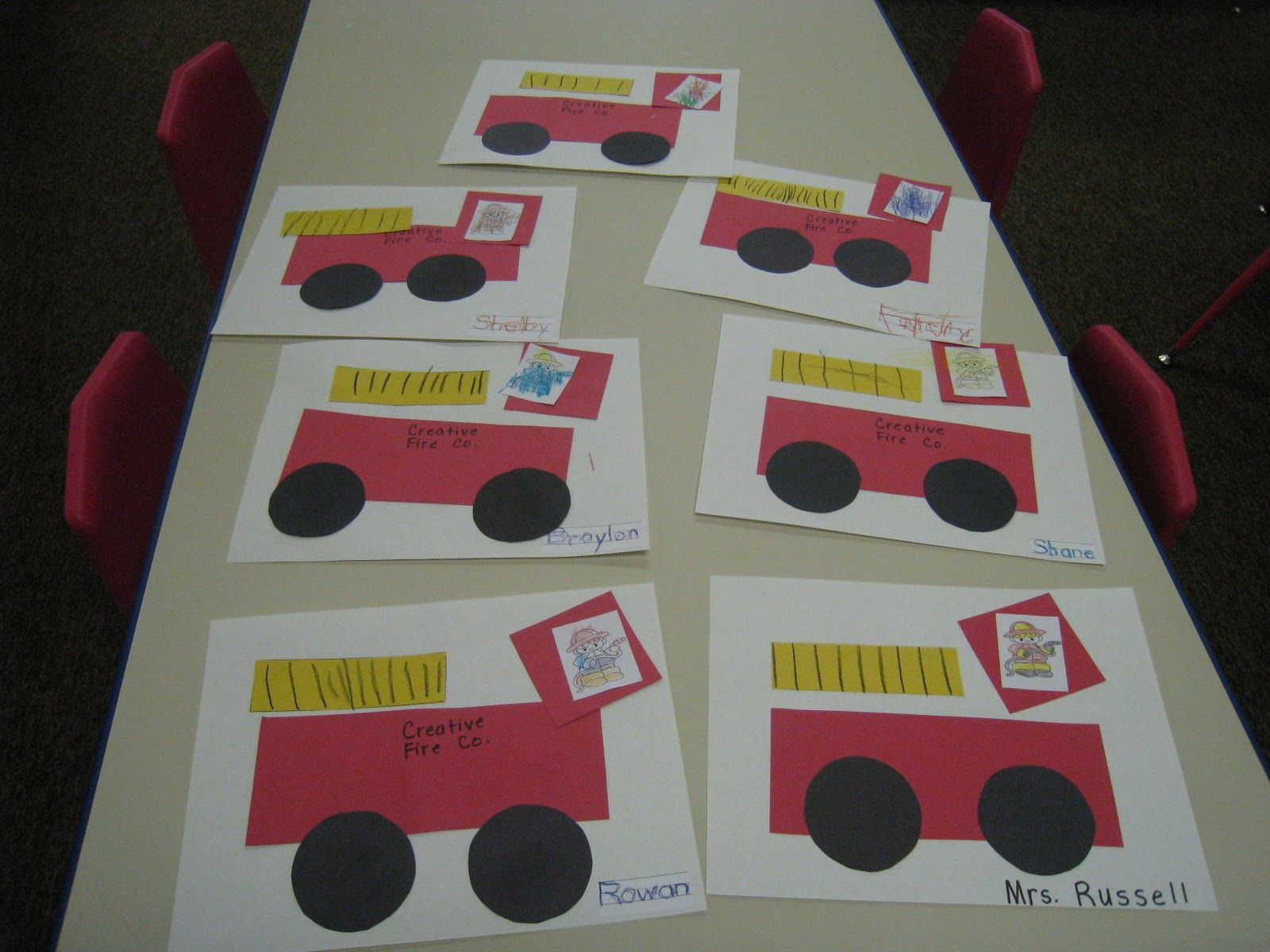 Fire Truck Craft Preschool
