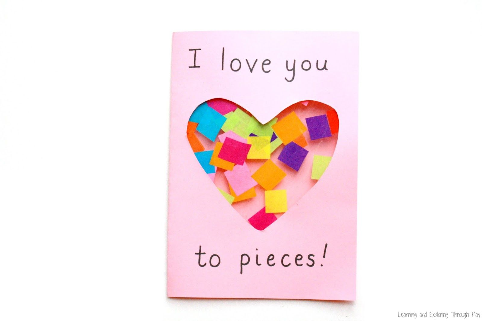 love you to pieces suncatcher card  mothers day cards