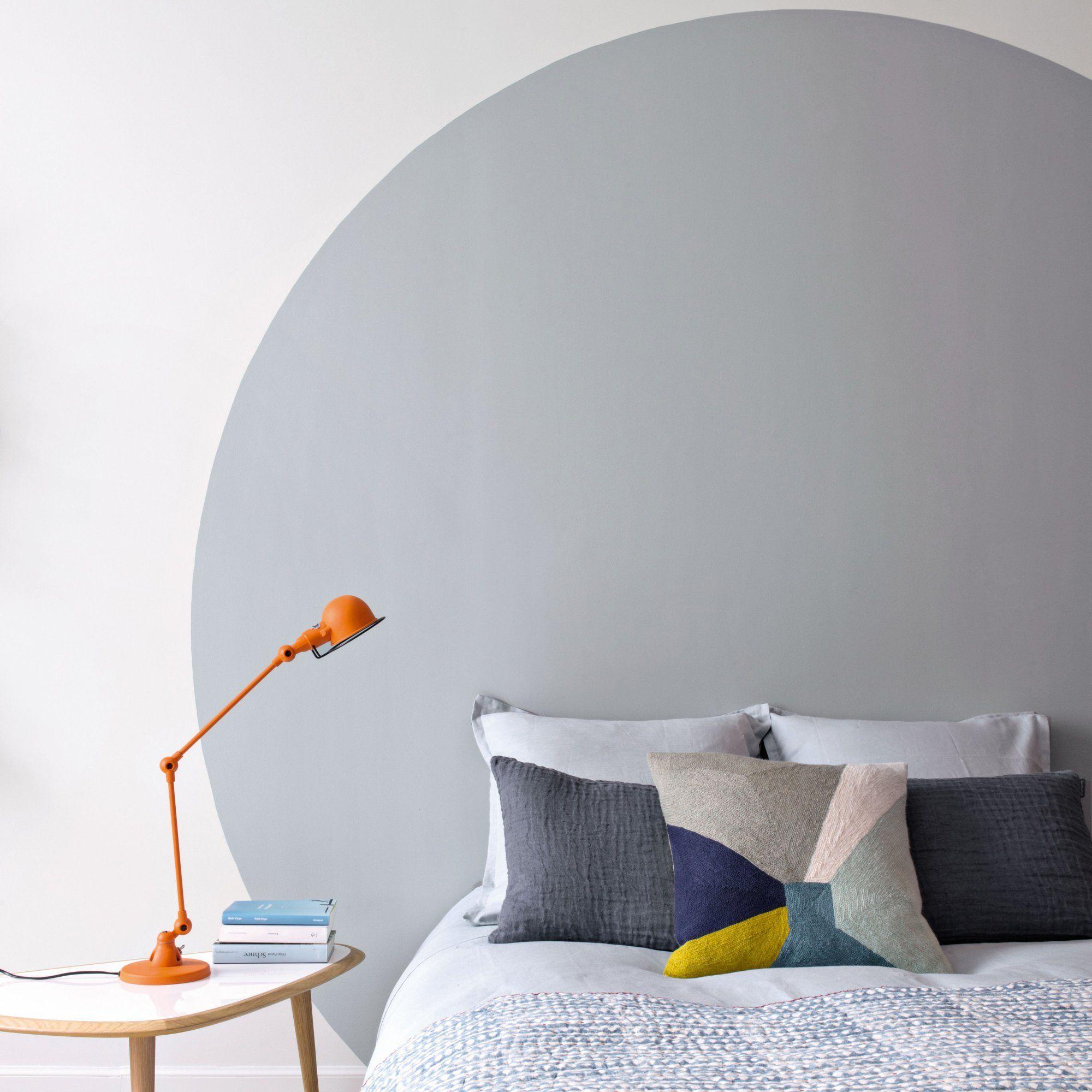 Tête de lit peinture rond   Deco chambre parental, Tete de ...