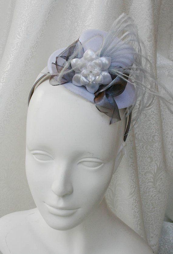 98d45bfbfbced WINTER FLOWER Tea Party Fascinator Mini Tea Party Hat on Headband ...