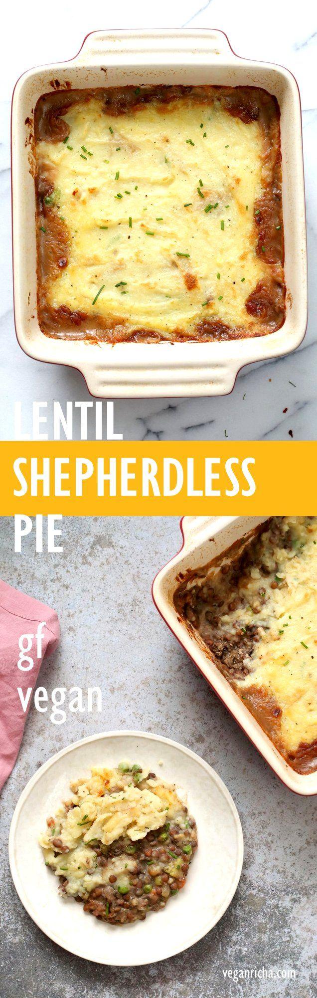 Vegan Lentil Shepherd S Pie Mushroom Lentil Shepherdless Pie Vegan Richa Recipe Vegan Recipes Vegetarian Recipes