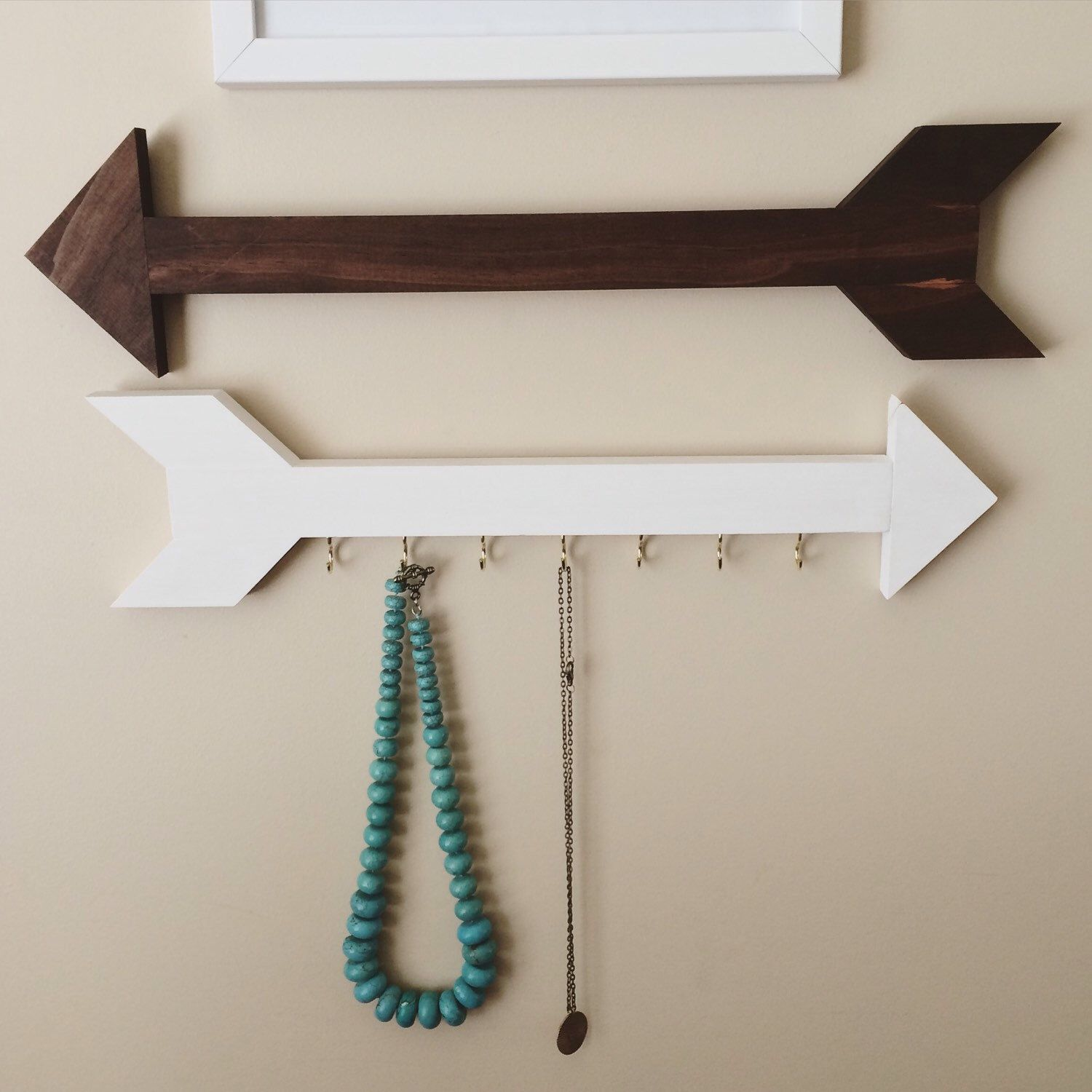 Wood arrows for gallery wall jewelry organizer necklace hanger