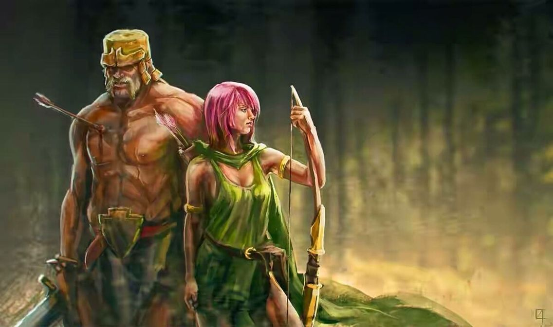 Archer and Barbarian Clash of Clans   Clash of clans ...
