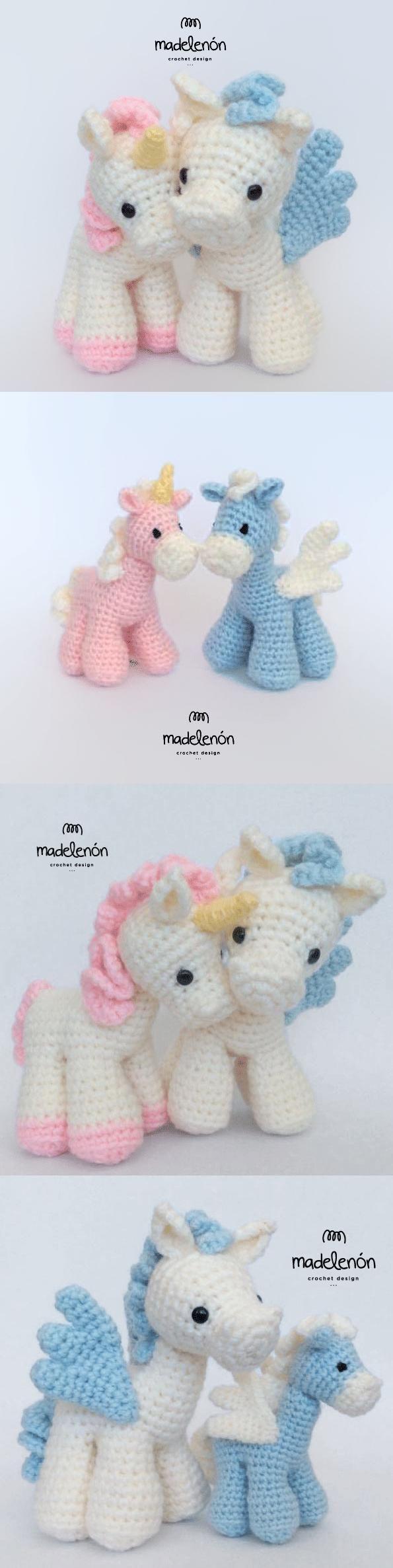 Fantasy amigurumi pattern by Madelenon | Unicornio, Tejido y ...