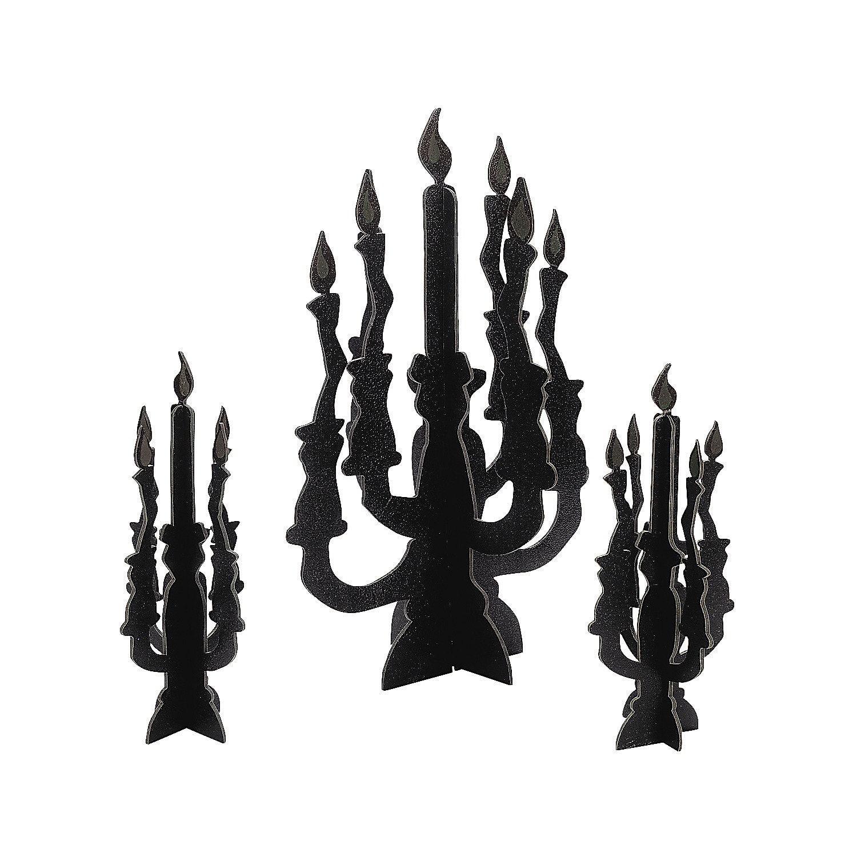 Candelabra+Centerpieces+With+Glow In The Dark+Flames+ +Orientaltradingcom