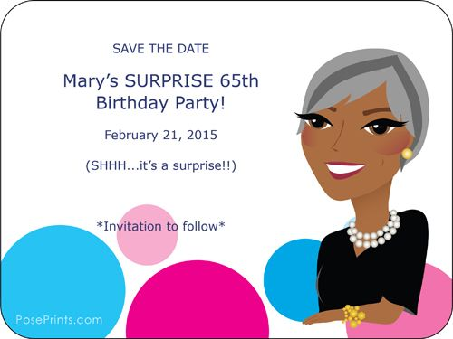 60th Birthday Save The Date