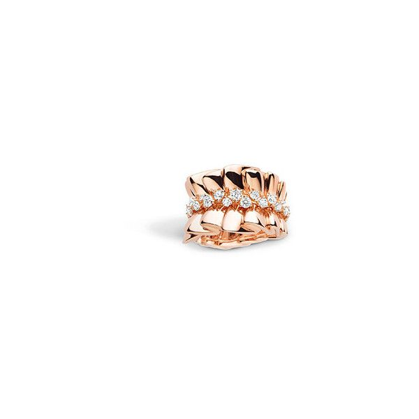 18K PINK GOLD ARCHI DIOR BAR EN COROLLE RING WITH DIAMONDS