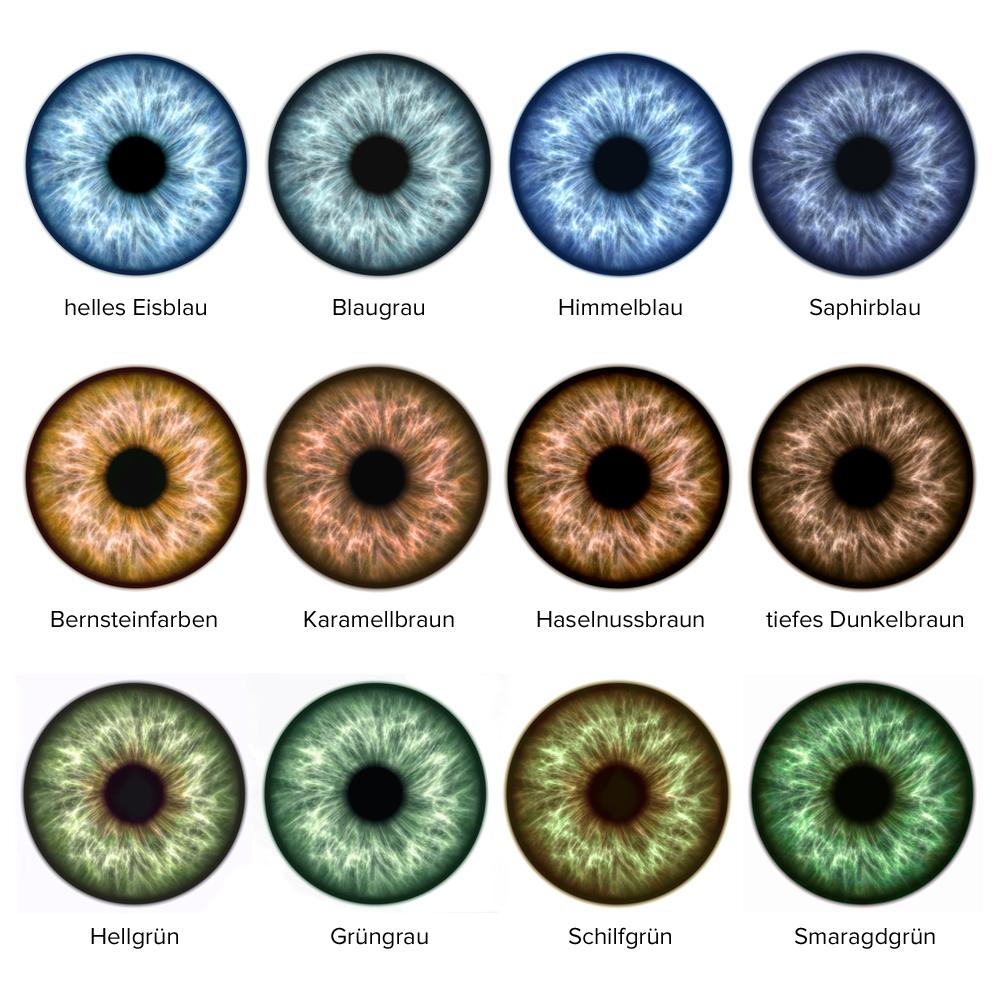 Alle Augenfarben