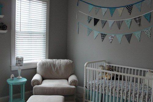 Chambres de b b un peu d 39 inspiration pour les futures - Chambre bleu turquoise et taupe ...