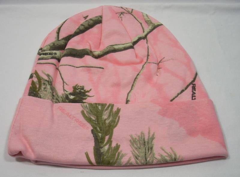 "Kati Camo Camouflage Realtree AP Pink 12"" Cuff Beanie Hat Cap Snowboarding picclick.com"