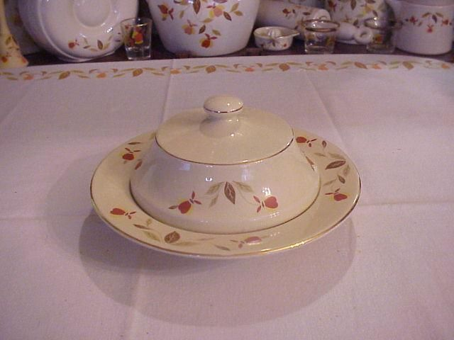 In Pottery Glass Pottery China China Dinnerware Jewel Tea Dishes Autumn Leaves Tea
