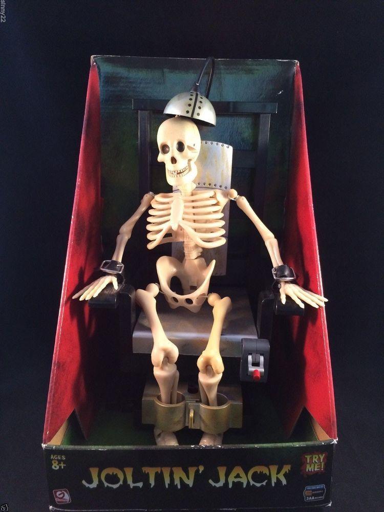 Nib Animated Joltin Jack Electric Chair Skeleton Gemmy
