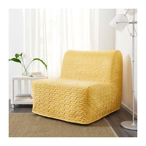 Lycksele Lövås Fotel Rozkładany Vallarum żółty Ikea