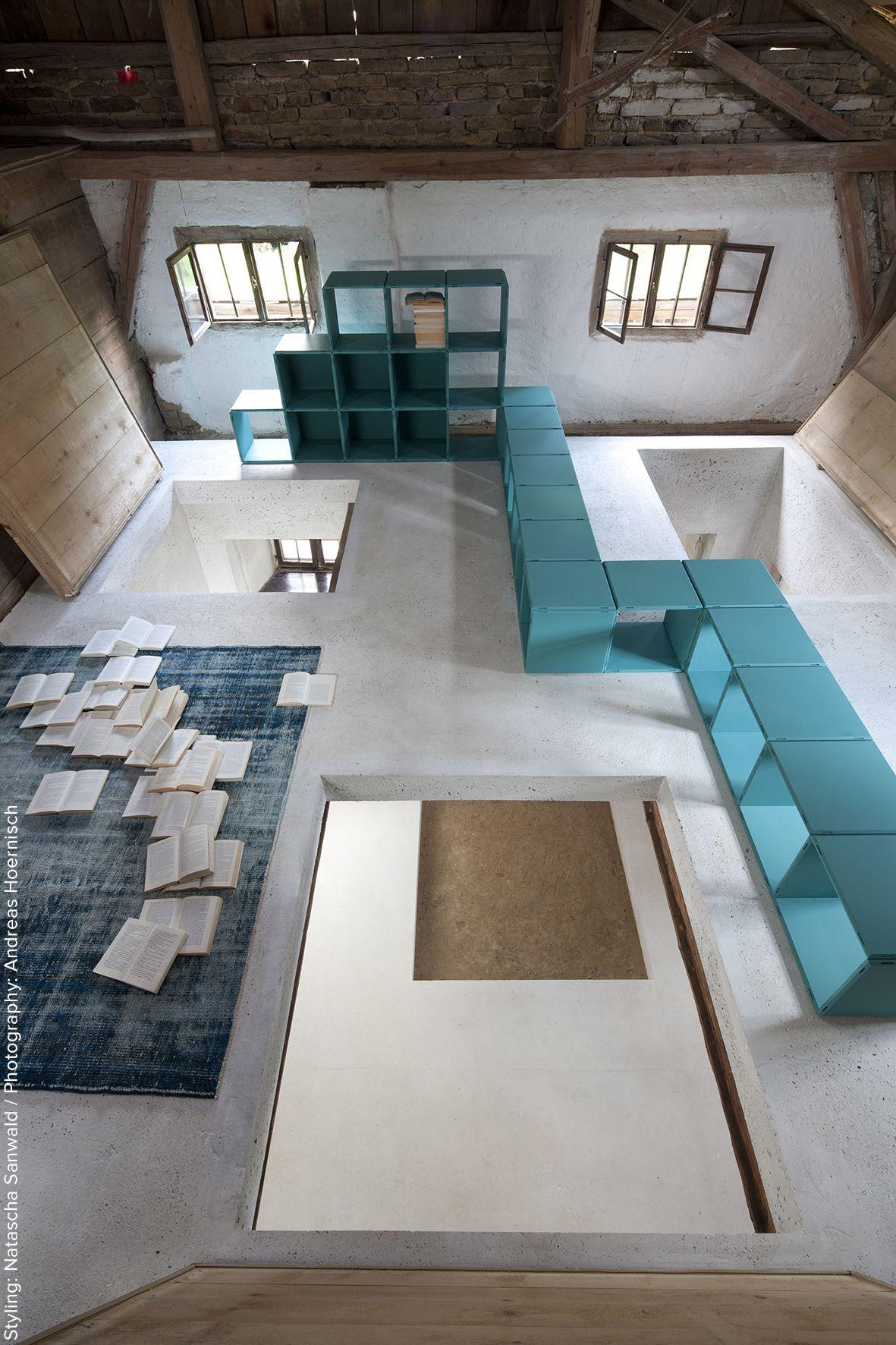 Regalsysteme Raumteiler qubing das modulare regalsystem passt sich jedem wohnraum an als