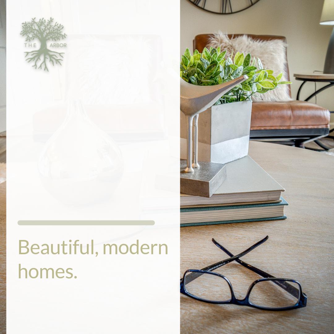 Beautiful, modern homes in green surroundings. We're eco