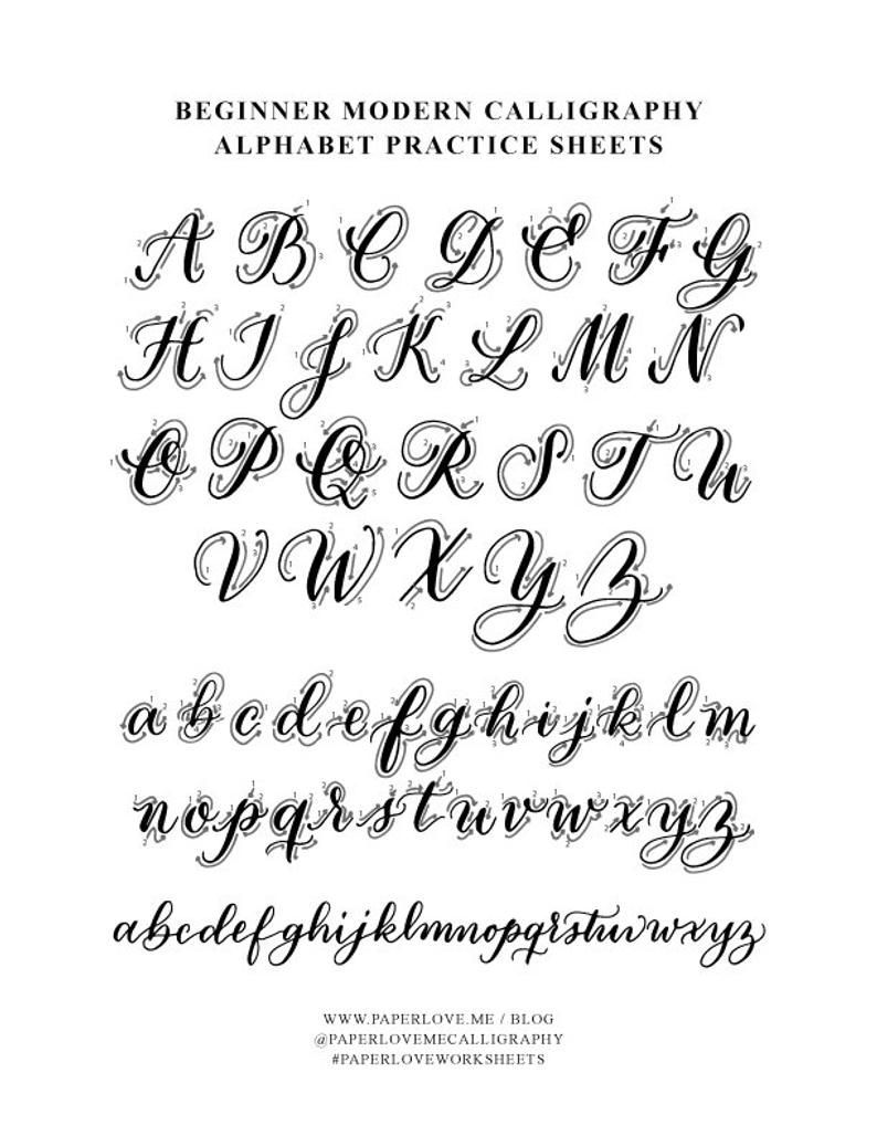Copperplate Inspired Formal Calligraphy Alphabet Printable Etsy In 2020 Calligraphy For Beginners Modern Calligraphy Alphabet Modern Calligraphy