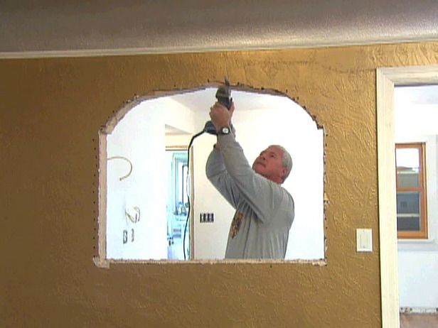 Diy Network I Want That Kitchen how to create an arched window between rooms.i really want to