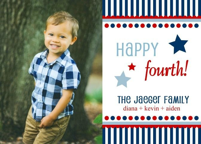 Happy 4th of July Photo Greeting Cards