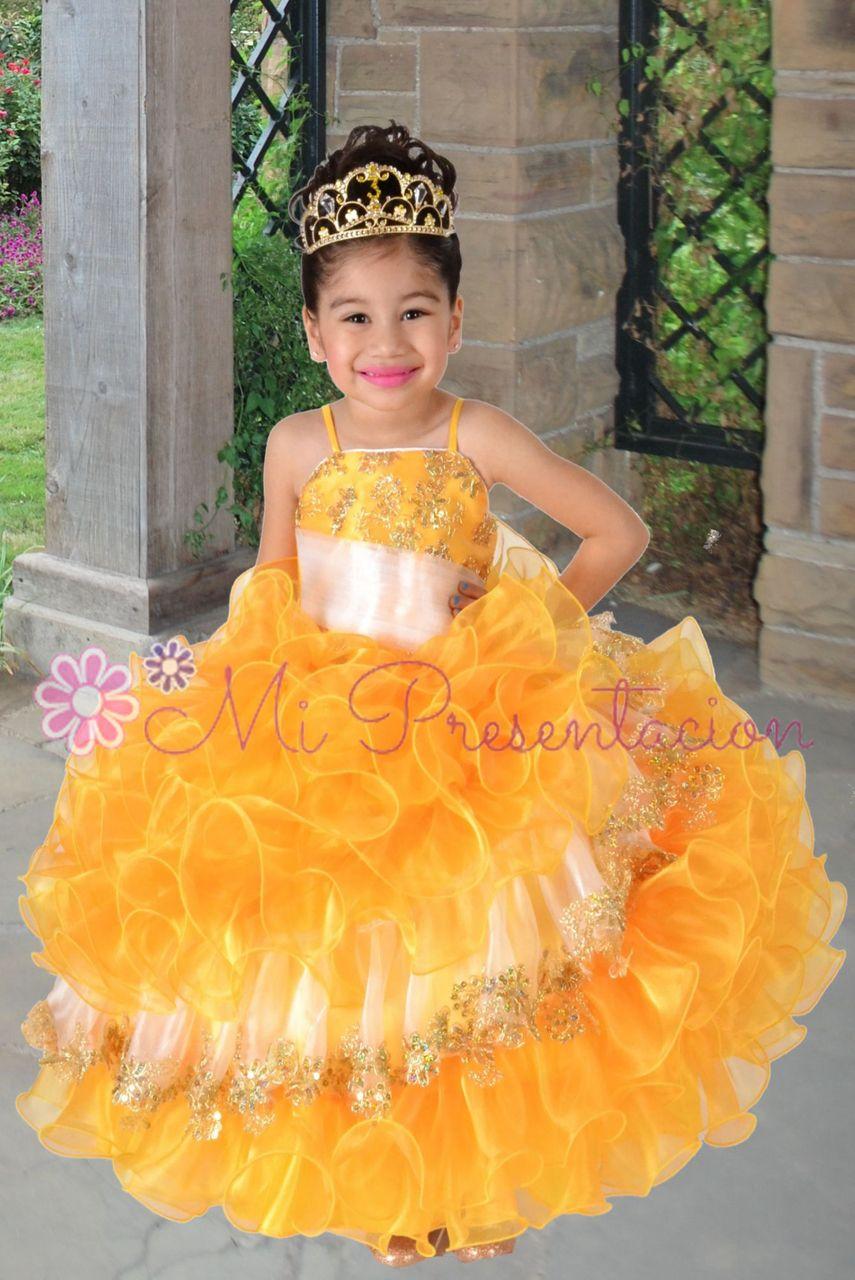 Flower girl vestido #fgd027 | Vestidos, Flower girl ...