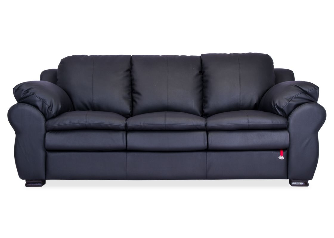 Berry 55003 Black Classic Leatherette Sofa With A Classic Contemporary Design And A Slender Curves Berry Is The Finest Pi Furniture Buy Furniture Online Sofa