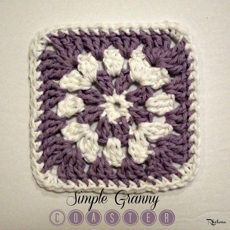 Simple Granny Coaster ~ FREE Crochet Pattern | Tejidos | Pinterest ...