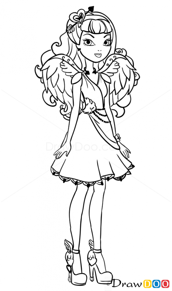 C A Cupid Coloring Page Eah Sketches Ever After High Und