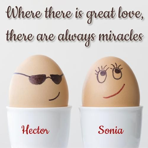Hector & Sonia   Cute love couple, Name card printing ...