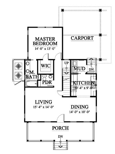 Ashley River Cottage Variation House Plan 12303 Design From Allison Ramsey Architects Basement House Plans Cabin Plans House Plans