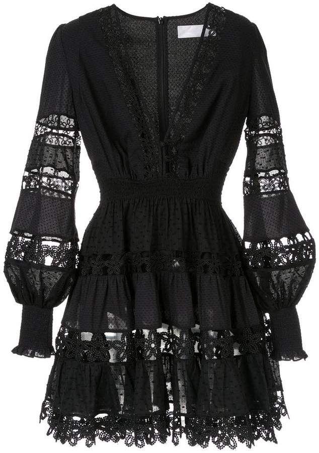 e4b87d6315300 Proenza Schouler Crepe Chiffon Square Neck Dress - Womens - Black in 2019 |  Women's fashion | Dresses, Dress outfits, Fashion