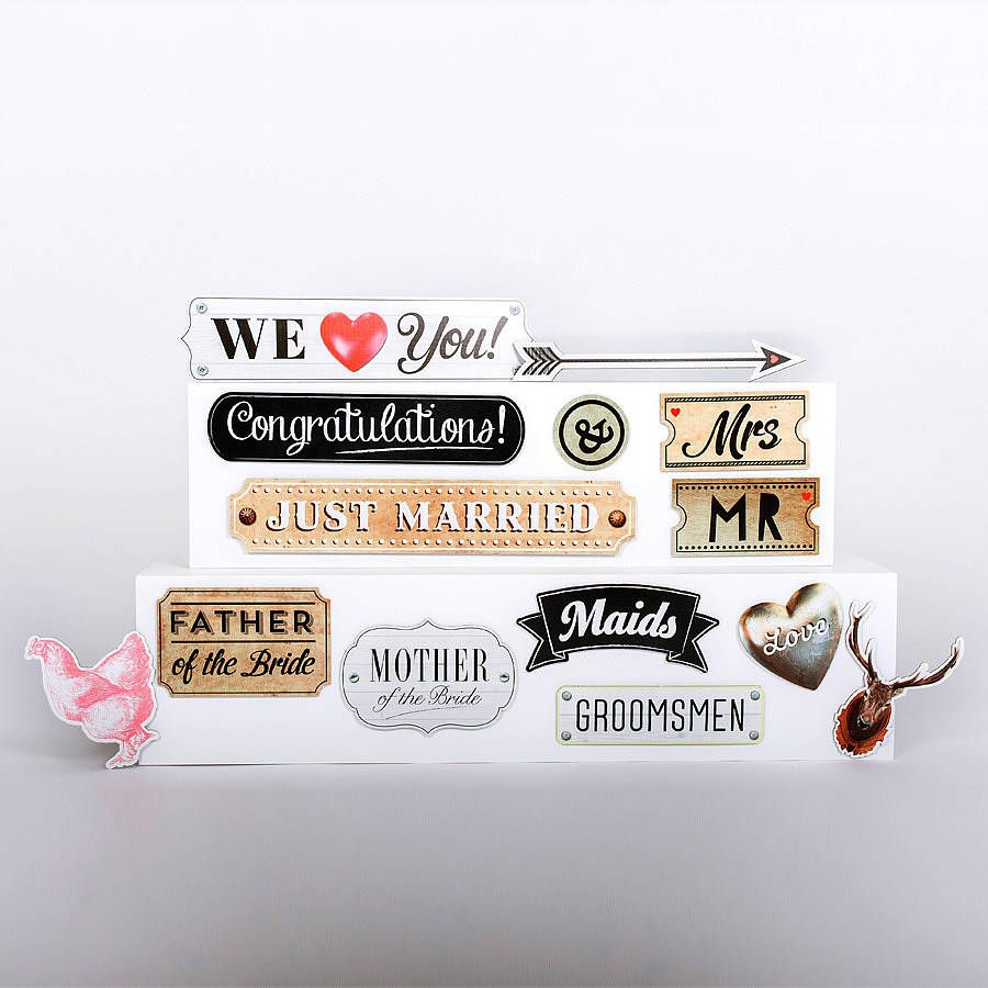 Wedding Caption Sign Photo Props By Scene Setter Notonthehighstreet