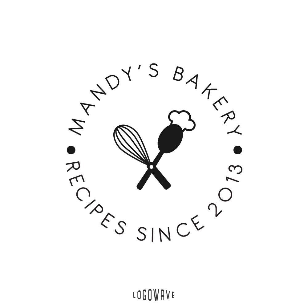 Bakery logo restaurant logo food logo baker logo round stamp food logo baker logo round stamp logo forumfinder Gallery