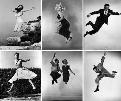 black and white jump