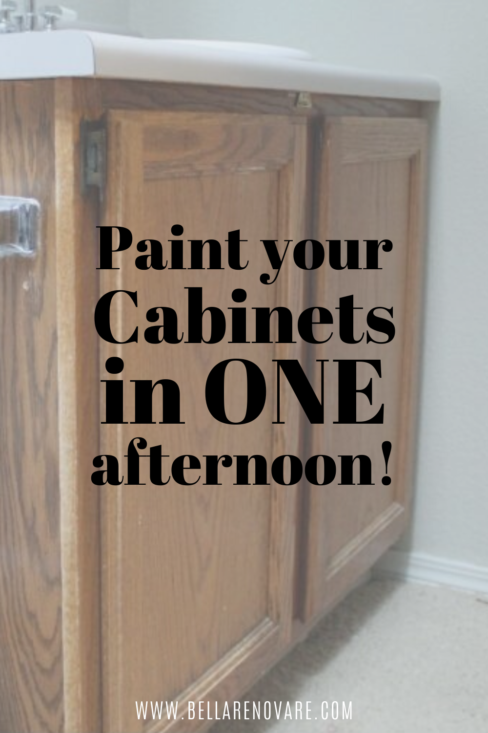 Photo of Update your Old Bathroom Vanity! How to Paint your Cabinets in One Day! Bella Renovare DIY Painting