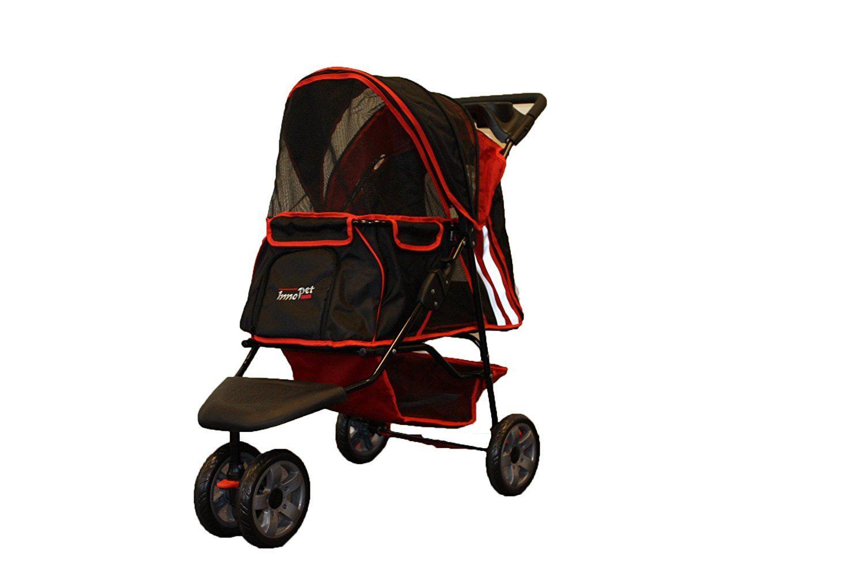 Pet Stroller ALL Terrain, IPS01 Red/Black, dog carrier