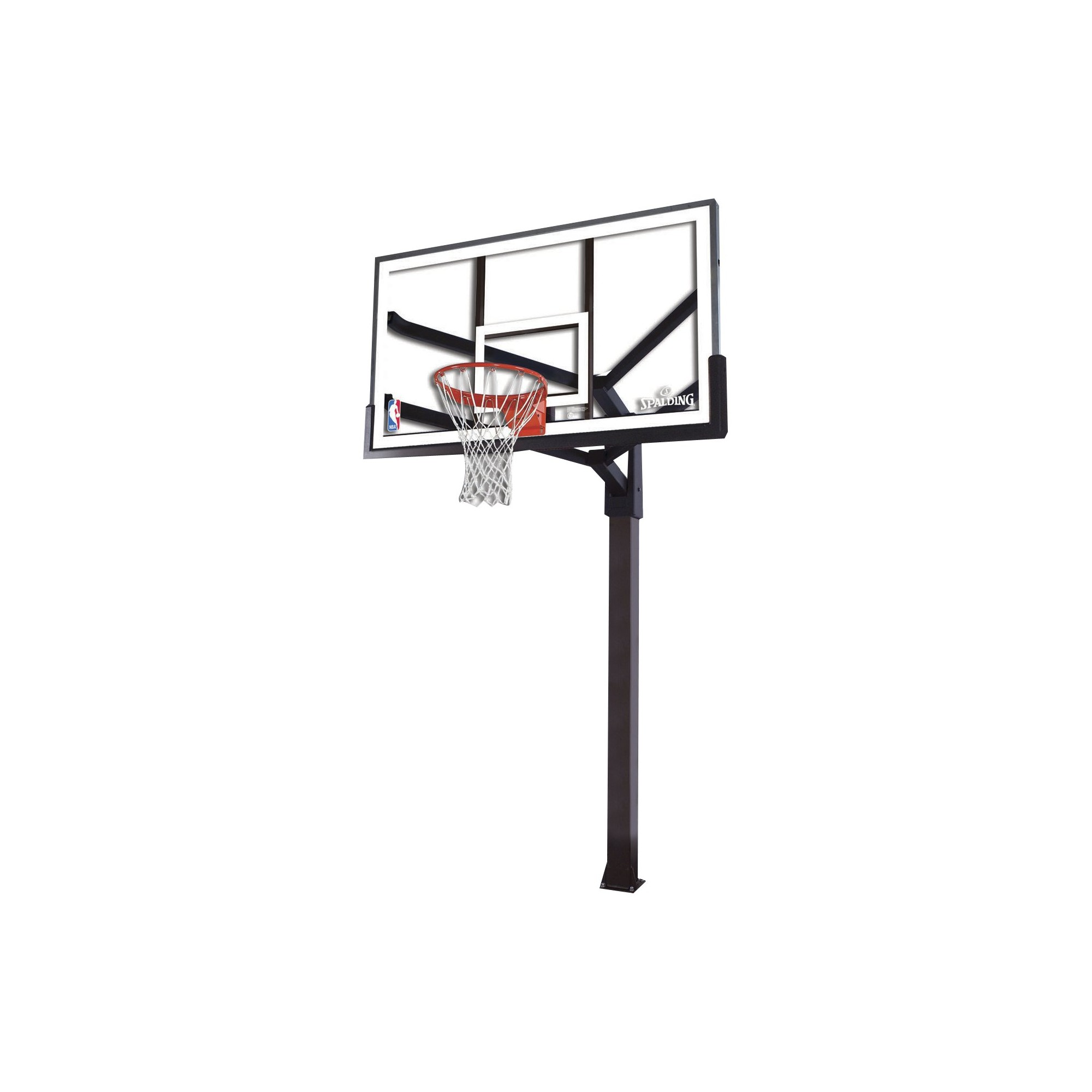 spalding nba 72 arena view acrylic in ground basketball hoop