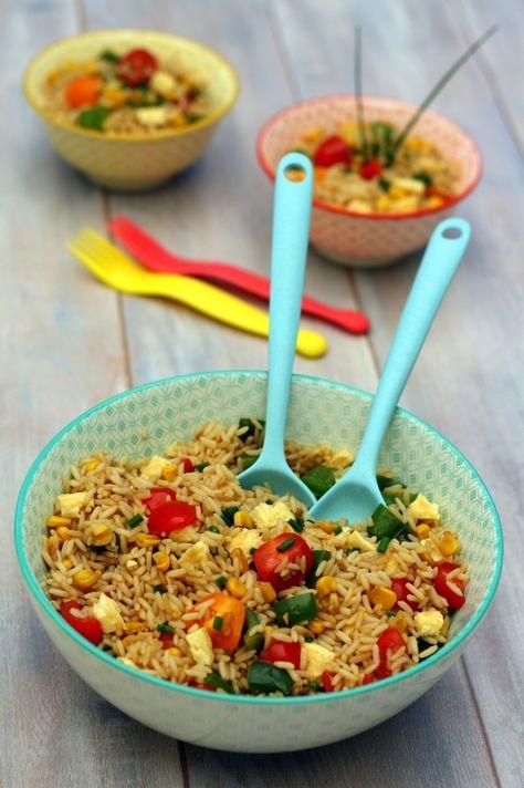 salade de riz saut la sauce soja fa on tha plats. Black Bedroom Furniture Sets. Home Design Ideas