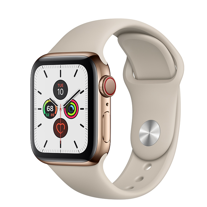 Apple Watch Series 5 Gps Cellular 44mm Gold Stainless Steel Case With Stone Sport Band S M M L Apple Apple Watch Buy Apple Watch Apple Watch Series