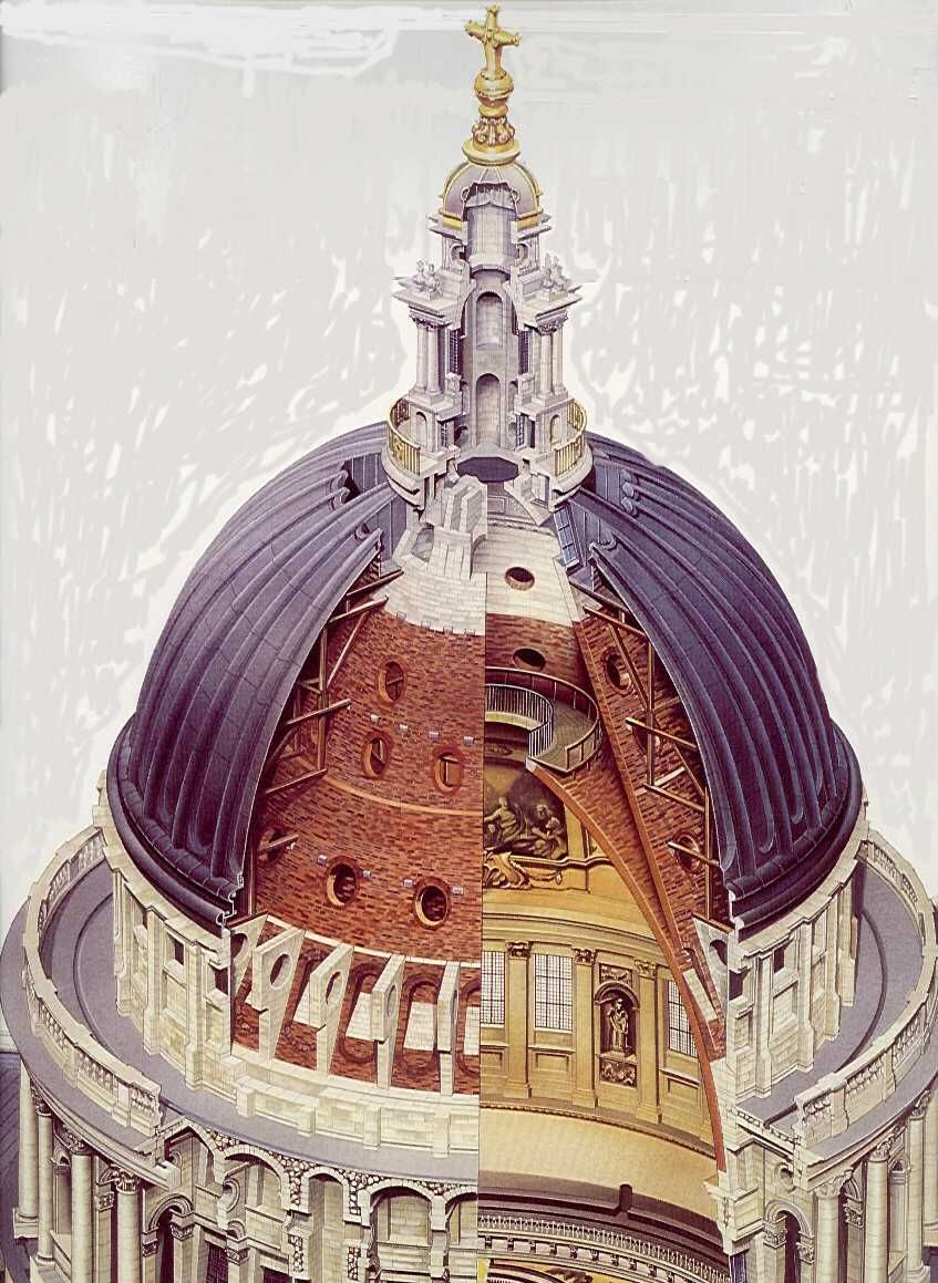 The dome rests on the drum and forms an inner shell that recapped ...