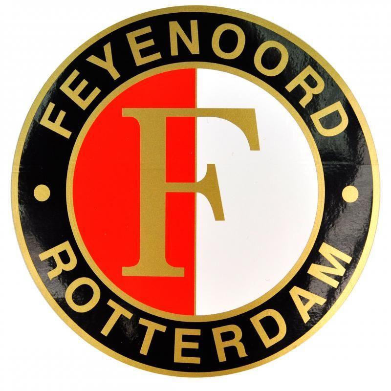 Logo Feyenoord Kleurplaat Sport Shopper Sticker Feyenoord Goud