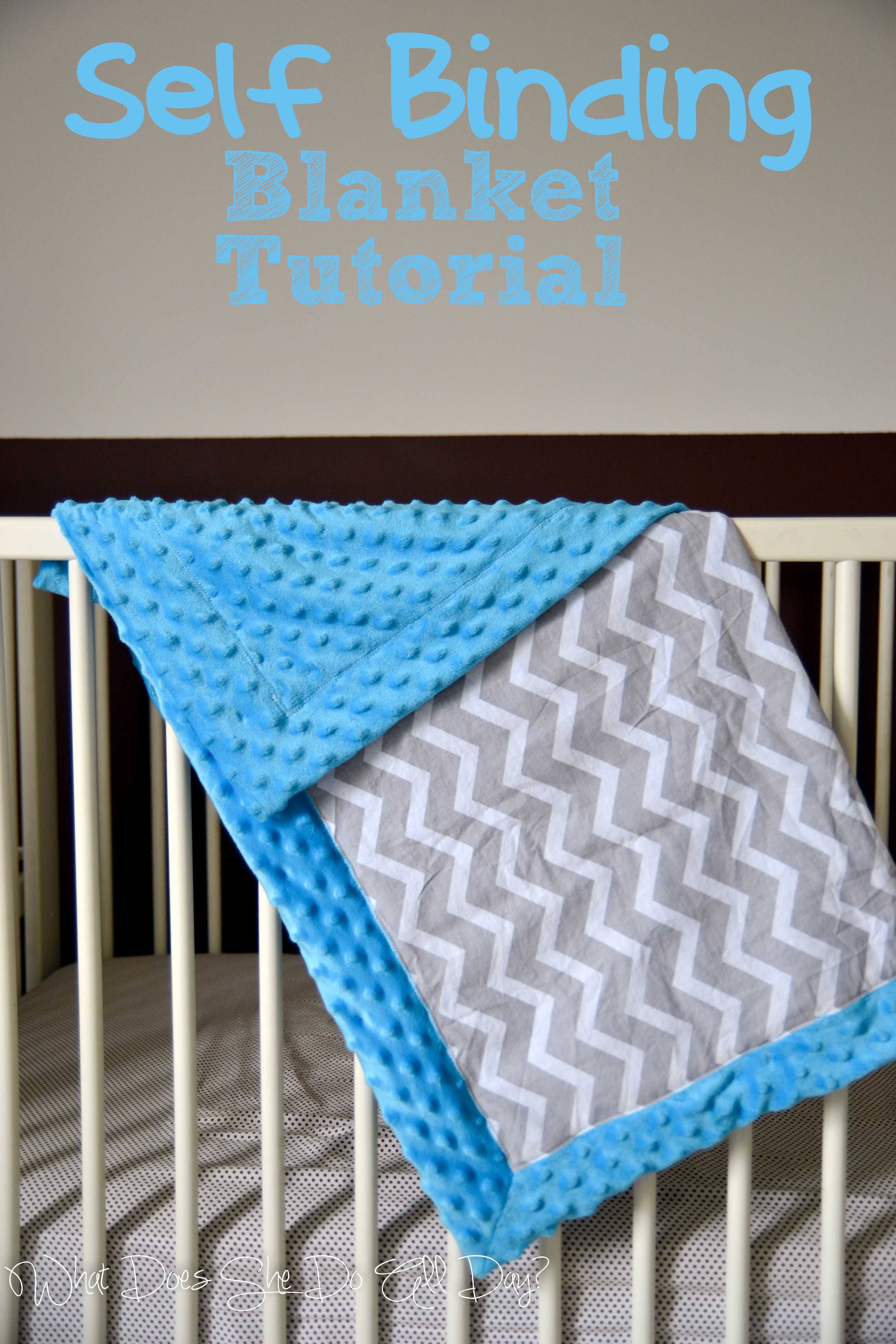 Self Binding Blanket Tutorial Baby Quilt