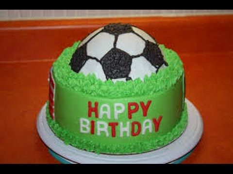 make at home Football Cake How to make recipe Birthday cakes World
