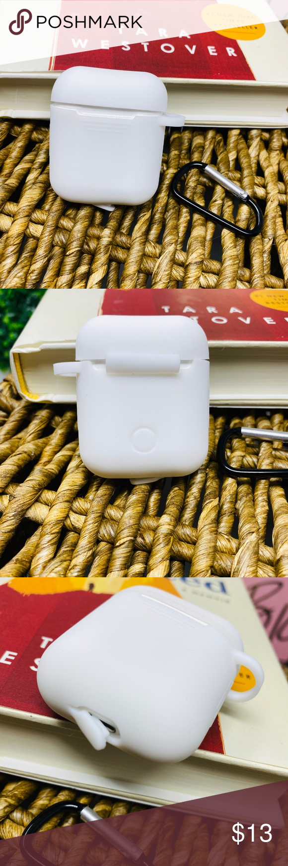 Airpods Case Solid White Case Solid White Phone Case Accessories Keyrings