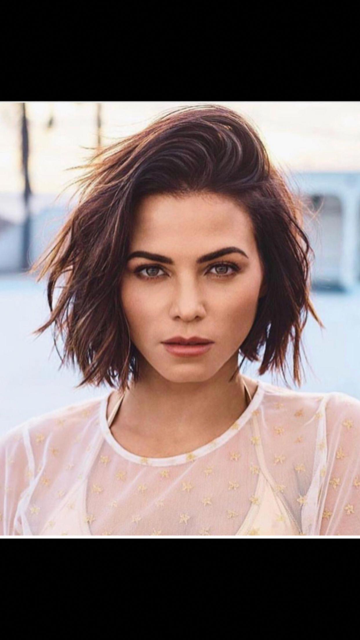 woman short hair brunette