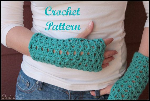 Crochet PATTERN PDF Crochet Gloves Pattern, Fingerless Mittens Pattern, Fingerless Gloves Pattern, Arm Warmer Pattern, Wrist Warmer Pattern via Etsy