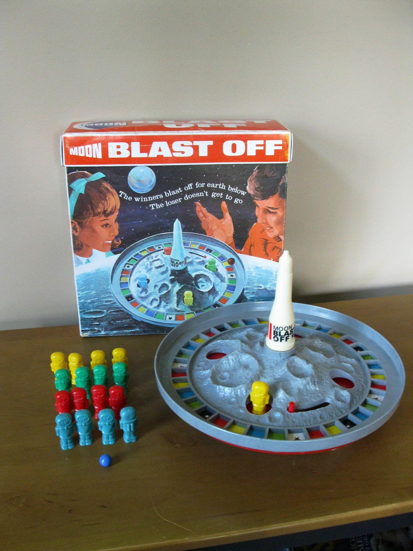 MOON BLAST OFF game 1970 Schaper Manufacturing Co moon