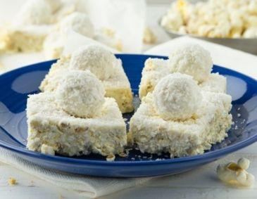 Raffaello-Popcorn-Schnitten